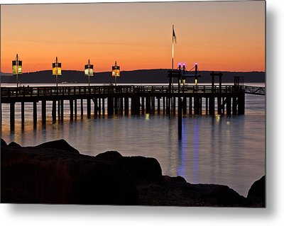 Ruston Way Tacoma Sunset Metal Print by Bob Noble Photography