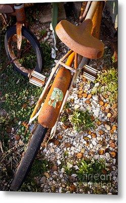Rusty Bike Bumper Metal Print by Sonja Quintero