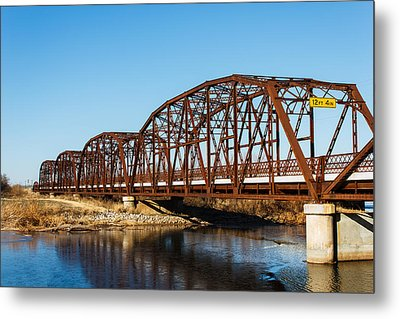 Rusty Bridge Metal Print