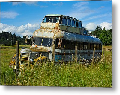 Metal Print featuring the photograph Rusty Bus by Crystal Hoeveler