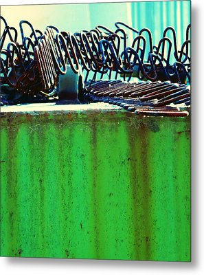 Rusty Coils 2 Metal Print by Laurie Tsemak