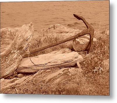 Metal Print featuring the photograph Rusty by Jean Goodwin Brooks