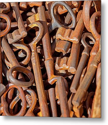 Rusty Keys Metal Print by Art Block Collections