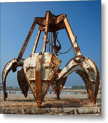 Rusty Obsolete Dredging Equipment Metal Print by Yali Shi