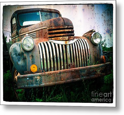 Rusty Old Chevy Pickup Metal Print by Edward Fielding
