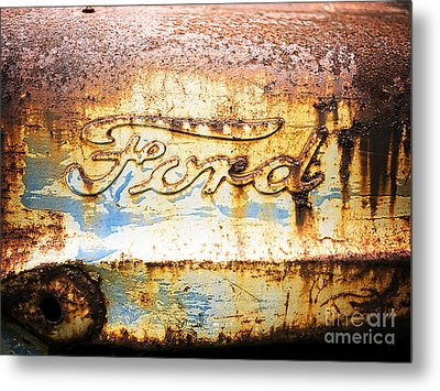 Rusty Old Ford Closeup Metal Print