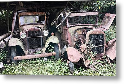 Rusty Old Friends Metal Print