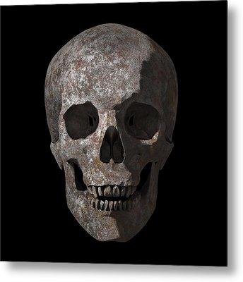 Rusty Old Skull Metal Print by Vitaliy Gladkiy