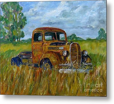 Rusty Old Truck Metal Print by William Reed