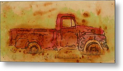 Rusty Truck Metal Print by Jenny Williams