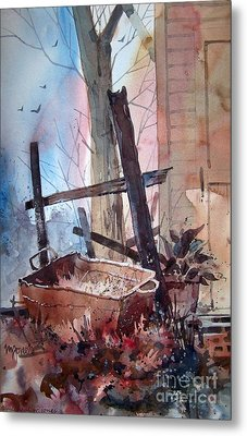 Rusty Tub Metal Print by Micheal Jones