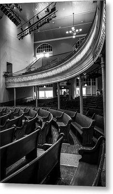 Ryman Auditorium Pews Metal Print by Glenn DiPaola