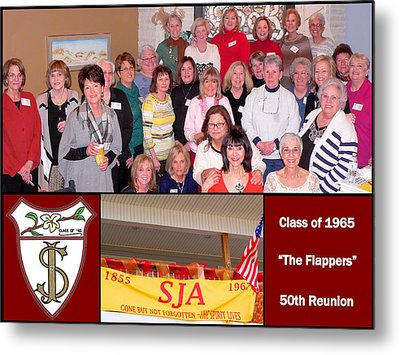 S J A Reunion Collage Flappers Metal Print
