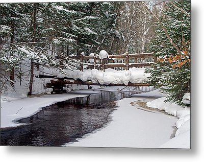 Sable Creek Footbridge  Metal Print