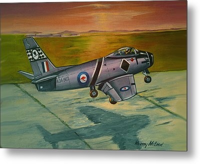 Metal Print featuring the painting Sabre At Sunset by Murray McLeod