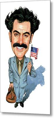 Sacha Baron Cohen As Borat Sagdiyev  Metal Print