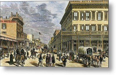 Sacramento In 1878 Metal Print