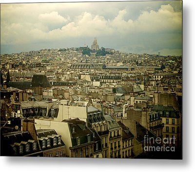 Sacre-coeur And Roofs Of Paris. France.europe. Metal Print by Bernard Jaubert