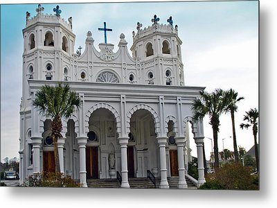 Metal Print featuring the photograph Sacred Heart Church by John Collins