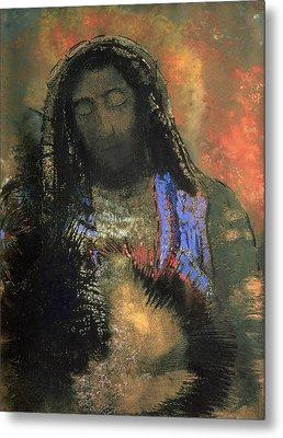 Sacred Heart Metal Print by Odilon Redon