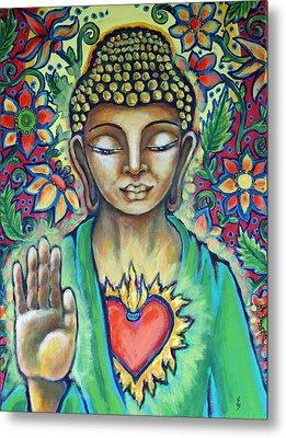 Sacred Heart Of Buddha Metal Print