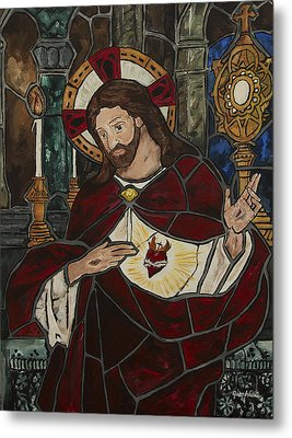Sacred Heart Of Jesus Metal Print by Greg Willits