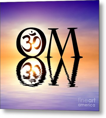 Sacred Om Metal Print by Tim Gainey