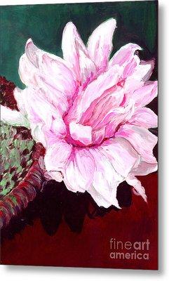 Sacred Pink Lotus  Metal Print by Mukta Gupta