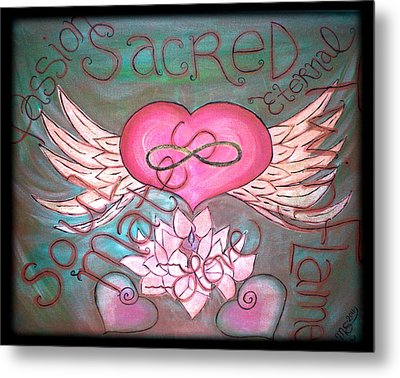 Sacred Soulmates And Twin Flames Metal Print