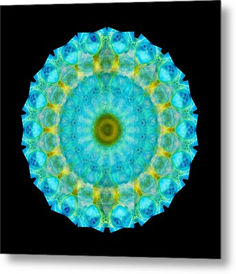 Sacred Voice - Mandala Art By Sharon Cummings Metal Print by Sharon Cummings