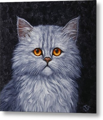Sad Kitty Metal Print