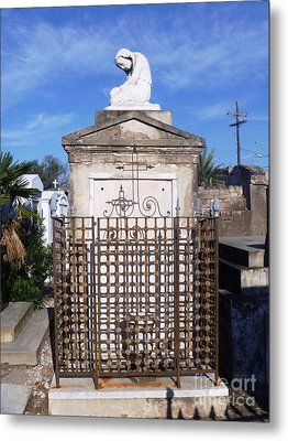 Metal Print featuring the photograph Saddest Statue Tomb by Alys Caviness-Gober