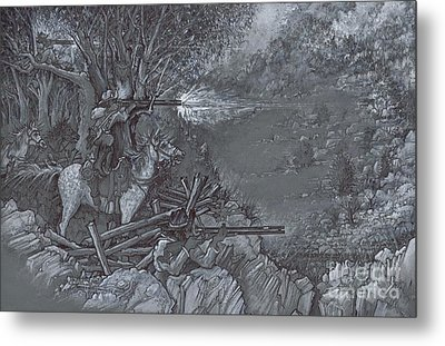 Saddle Sniper Metal Print by Scott and Dixie Wiley