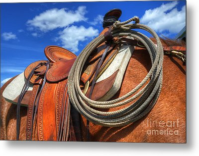 Saddle Up Metal Print by Bob Christopher