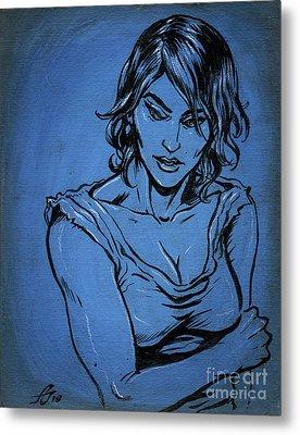 Sadie Blue Metal Print by John Ashton Golden