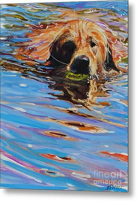 Sadie Has A Ball Metal Print by Molly Poole