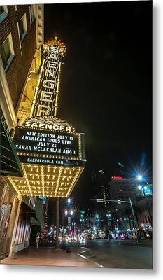 Saenger Theatre Metal Print by Andy Crawford