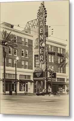 Saenger Theatre New Orleans Sepia Metal Print by Steve Harrington