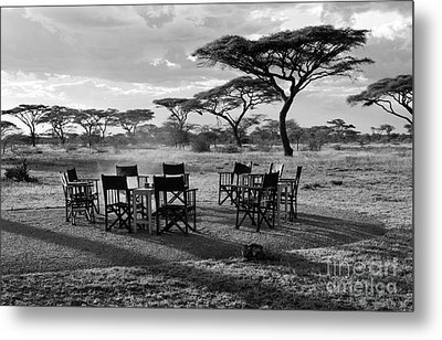 Safari Campfire Metal Print