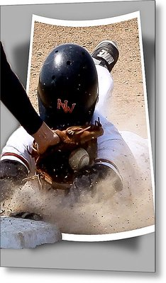 Safe At Third Metal Print by Jim Finch
