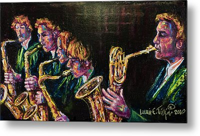 Safe Sax Metal Print by Laurie Tietjen