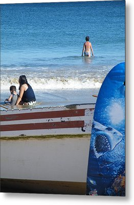 Metal Print featuring the photograph Safe To Go In The Water by Brian Boyle