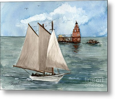 Metal Print featuring the painting Safely Past The Shoal  by Nancy Patterson