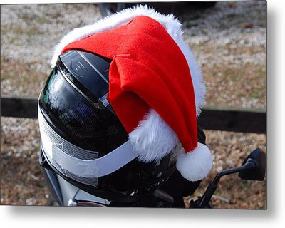 Safety First Santa Metal Print
