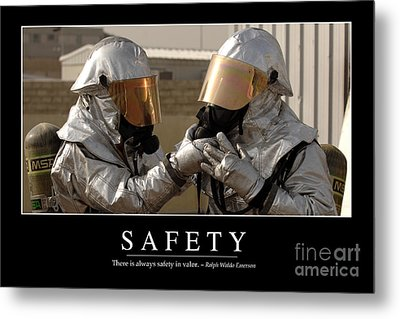 Safety Inspirational Quote Metal Print by Stocktrek Images