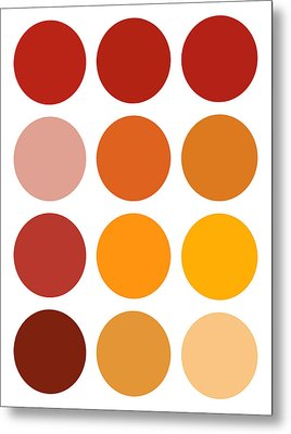 Saffron Colors Metal Print