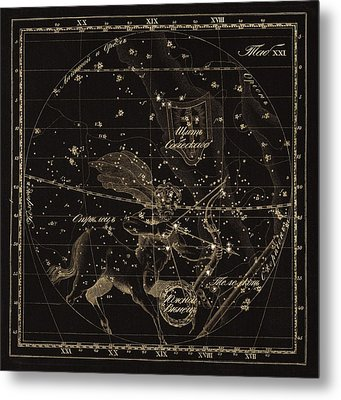 Sagittarius Constellations, 1829 Metal Print by Science Photo Library