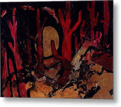 Metal Print featuring the painting Saguaro Sonata by Elaine Elliott