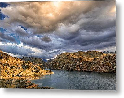 Metal Print featuring the photograph Saguaro Storms by Anthony Citro