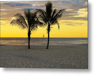 Sail Away At Dawn Metal Print